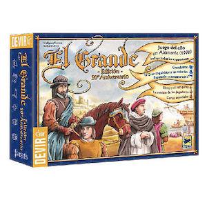 El Grande 20 aniversario eurogame de la editorial Devir disponible en Lámpara Mágica Shop Sevilla