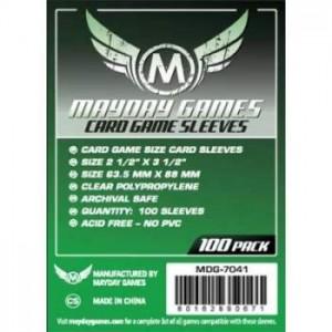 Fundas Mayday Green 63,5x88 mm protege tus juegos de mesa favoritos disponible en Lámpara Mágica Shop