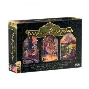 Las mil y una noches editado por Devir en castellano un juego de mesa narrativo disponible en Lámpara Mágica Shop Sevilla