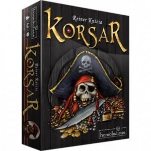 Korsar es un juego de mesa del maestro Reiner Knizia para 2 a 6 jugadores disponible en Lámpara Mágica Shop Sevilla