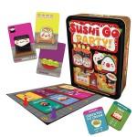 Sushi Go Party es un delicioso juego de mesa para todos los públicos en el que disfrutar de una cena a la carta de comida japonesa disponible para comprar en Lámpara Mágica Shop Sevilla