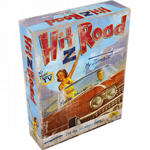 Hit Z Road es un juego de mesa que nos propone un peligroso viaje cruzando Estados Unidos de costa a costa. Para 1 a 4 jugadores, a partir de 14 años de edad. Disponible para comprar en Lámpara Mágica Shop Sevilla.