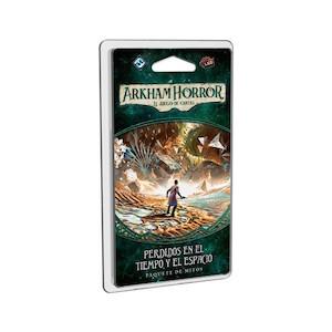 Perdidos en el tiempo y el espacio es el último pack de Mitos del ciclo el Legado de Dunwich. Finaliza la aventura y sobrevive a los horrores de Arkham. Disponible para comprar en oferta en Lámpara Mágica Shop. Estamos en Sevilla.