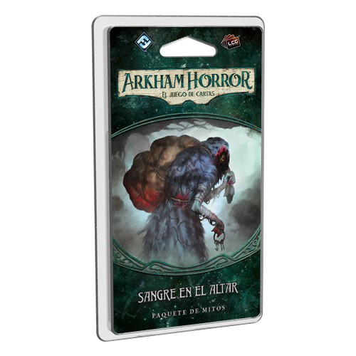 Sangre en el altar es el tercer pack de Mitos del ciclo el Legado de Dunwich. Continúa la campaña y sobrevive a los horrores de Arkham. Disponible para comprar en oferta en Lámpara Mágica Shop Sevilla.