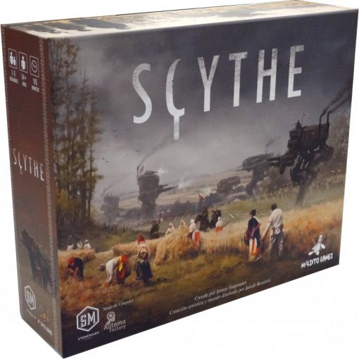 Scythe es un juego de mesa 4x ambientado en una realidad paralela de 1920. En un tiempo de granjas y guerras, cada jugador representa un personaje de una de las cinco facciones de Europa del este. Disponible para comprar en oferta Scythe + Promos en Lámpara Mágica Shop. Estamos en Sevilla.