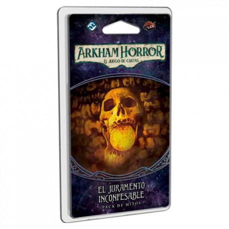 El juramento inconfesable es el segundo pack de Mitos de la campaña El Camino a Carcosa de Arkahm Horror el juego de cartas. Disponible para comprar en oferta en Lámpara Mágica Shop. Estamos en Sevilla.
