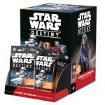 Caja 36 sobres de Star Wars Destiny Espíritu de Rebelión, la segunda colección del juego con la que podrás mejorar tus mazos y llevarlos a otro nivel. Disponible para comprar en oferta en Lámpara Mágica Shop Sevilla.
