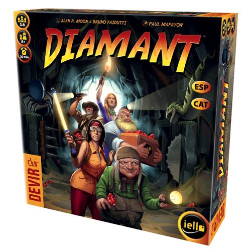 Diamant es un juego de mesa de aventuras en el que pondrás a prueba tu suerte en busca de tesoros perdidos. Divertido y fácil de aprender, un juego de mesa de éxito para todos los públicos. Disponible para comprar en oferta en Lámpara Mágica Shop. Estamos en Sevilla.