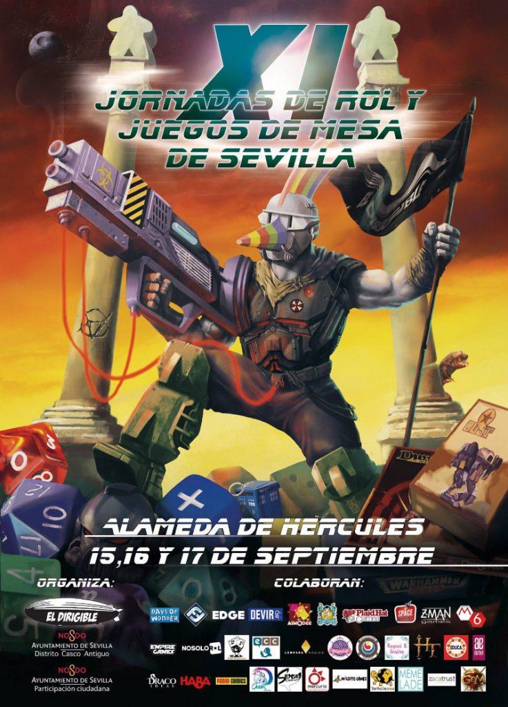 XI Jornadas de Juegos de Rol y de Mesa en Sevilla, organizadas por la asociación El Dirigible. Visita nuestro stand comercial de Lámpara Mágica Shop, y participa en nuestras actividades.