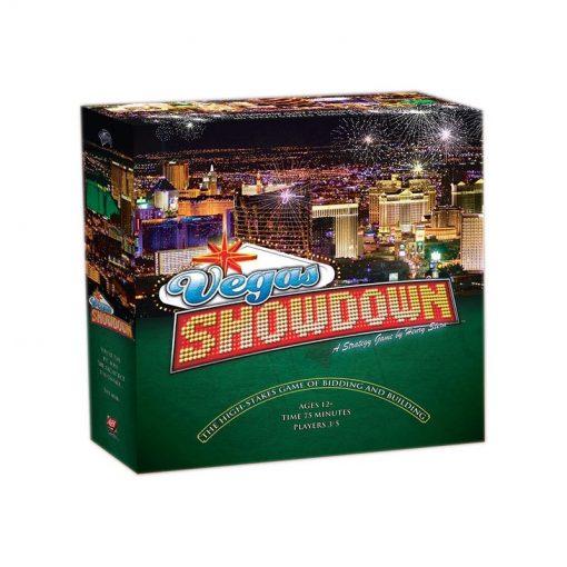 Vegas Showdown es un juego de mesa de avalon hill editado en inglés. Gestiona la construcción del mejor complejo hotelero y Casino de las Vegas. Disponible para comprar en oferta en Lámpara Mágica Shop. Estamos en Sevilla.