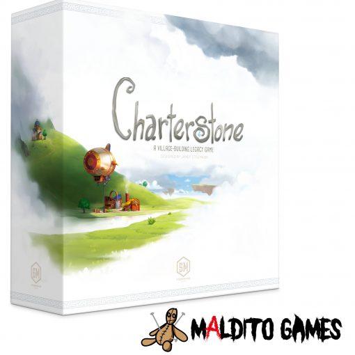 Charterstone es un juego de mesa Legacy en el que vivirás una historia de colonización durante 12 sesiones de juego. Compite con los demás jugadores en la colonización para el Rey Eterno. Un juego de mesa disponible para comprar en oferta en Lámpara Mágica Shop. Tu tienda especializada en juegos de mesa. Estamos en Sevilla.