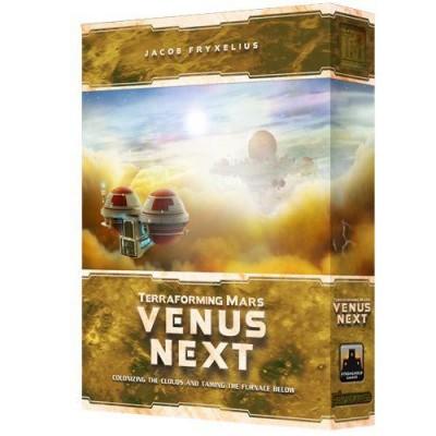 Venus next es una expansión para el juego de mesa Terraforming Mars. Colonoza Venus y consigue nuevas recompensas para tu corporación. Un juego de mesa disponible para comprar en oferta en Lámpara Mágica Shop. Tu tienda especializada en juegos de mesa. Estamos en Sevilla.