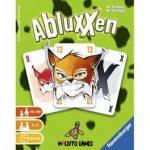 Abluxxen es un juego de cartas para 2 a 5 jugadores editado en castellano por Maldito Games. Captura las cartas de tus oponentes y acumula tantos puntos como puedas. Disponible para comprar en oferta en Lámpara Mágica Shop. Tu tienda online especializada en juegos de mesa. Estamos en Sevilla.